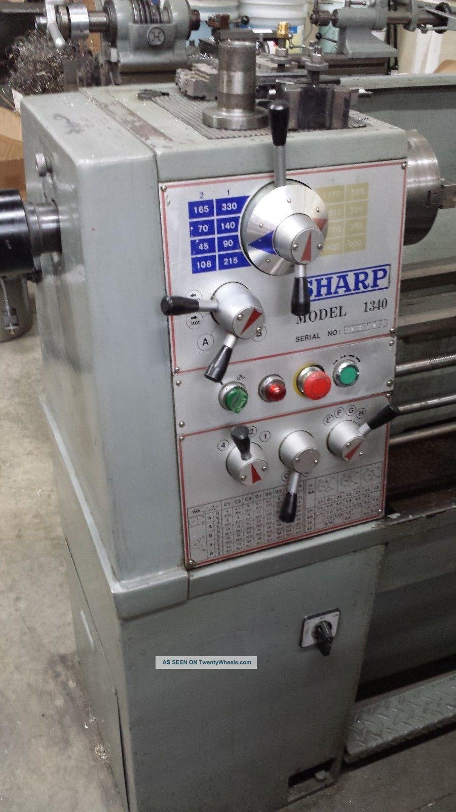 Sharp Precision Engine Gap Lathe Model 1340
