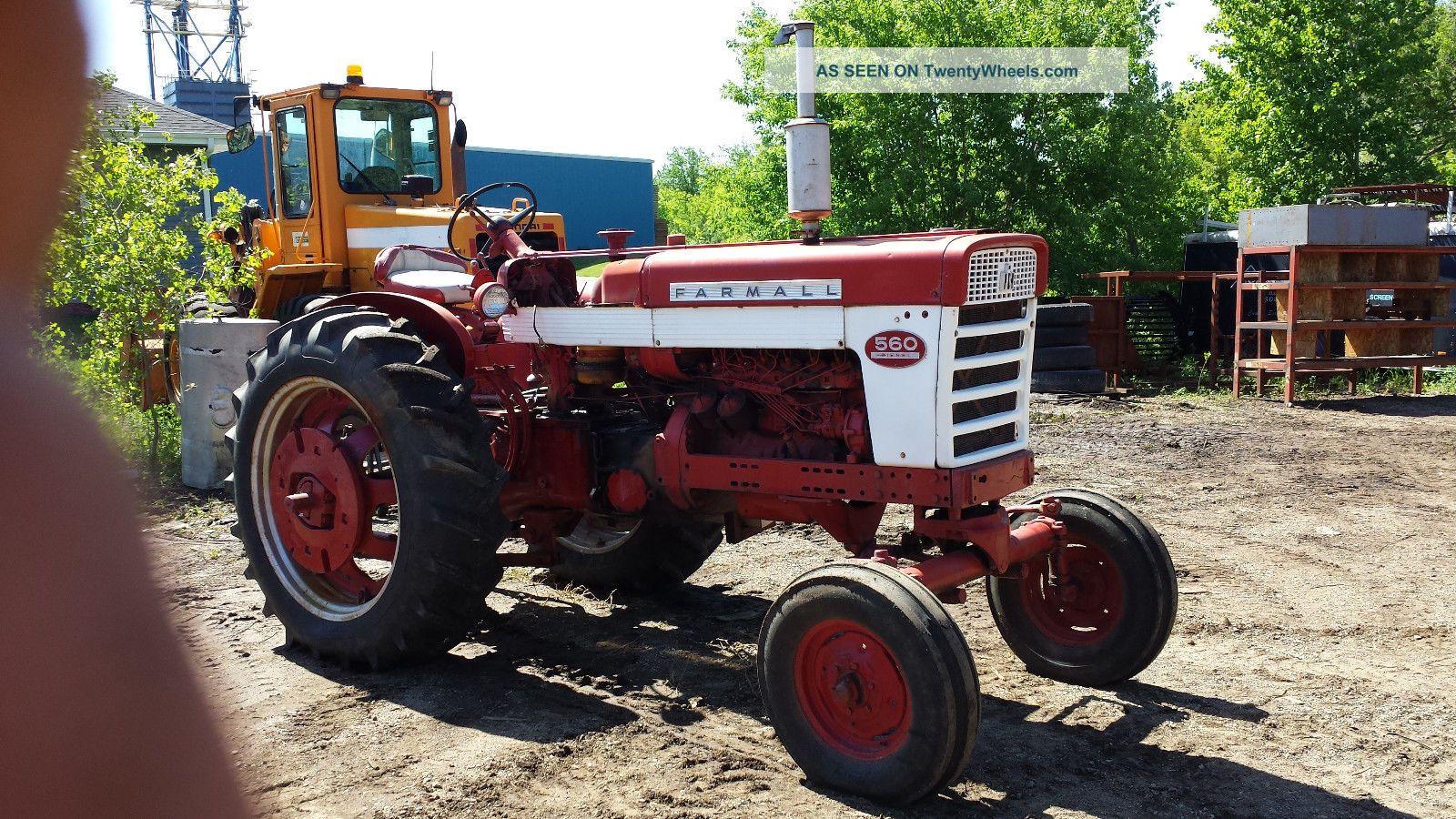 Farmall 560 Tractor : Farmall tractor diesel wide axle