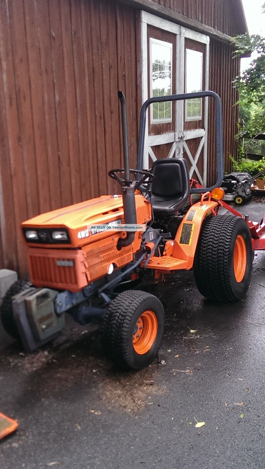 Kubota B7200 Hst 4wd Tractor With Befco Finish Mower And