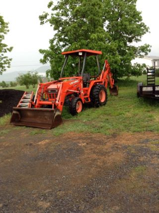 Kubota L35 4x4 Loader/backhoe Great Condition/well Maintained photo