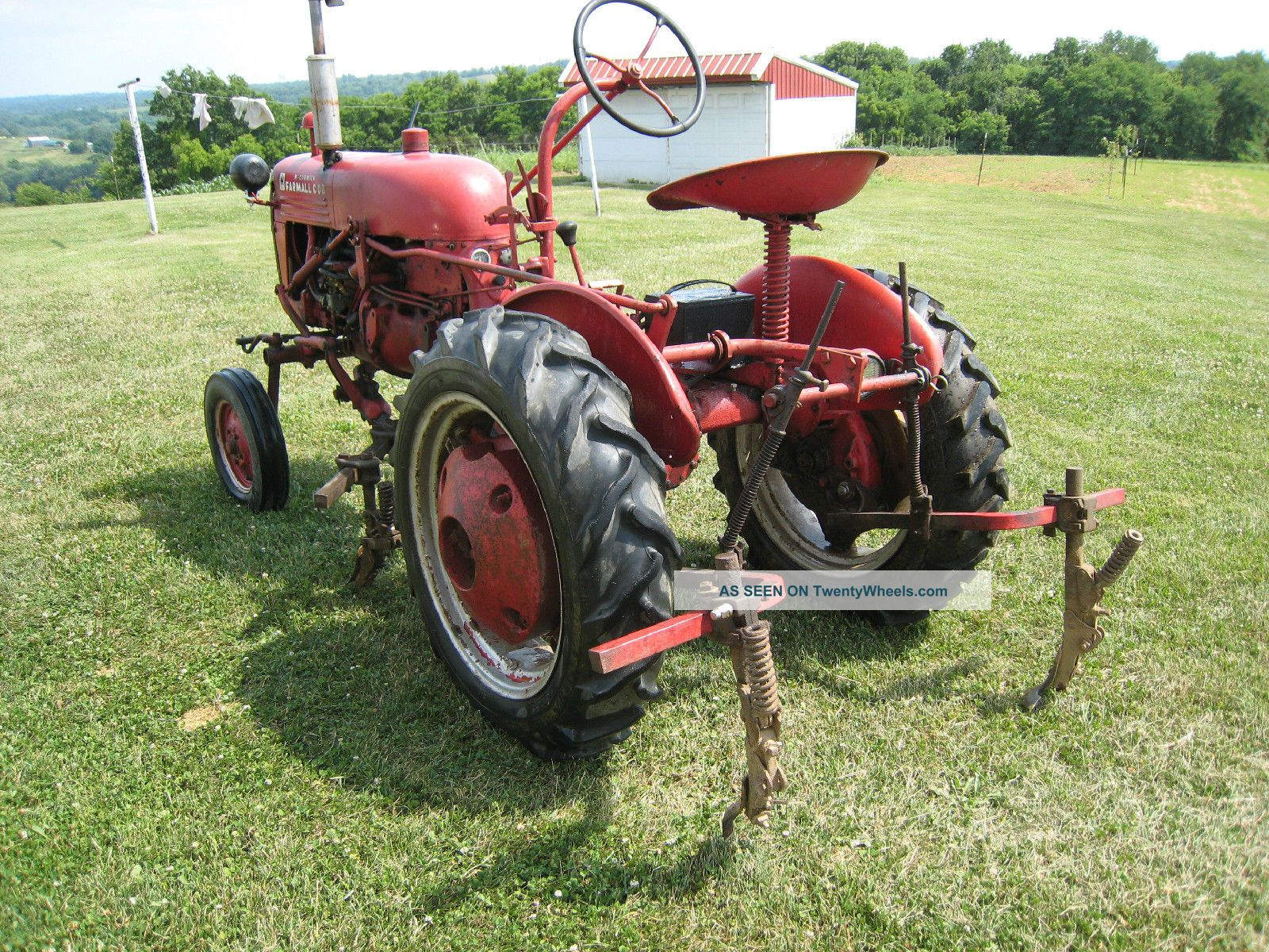 Farmall B Belt Pulley Seal : Farmall cub with cultivators and flat belt pulley