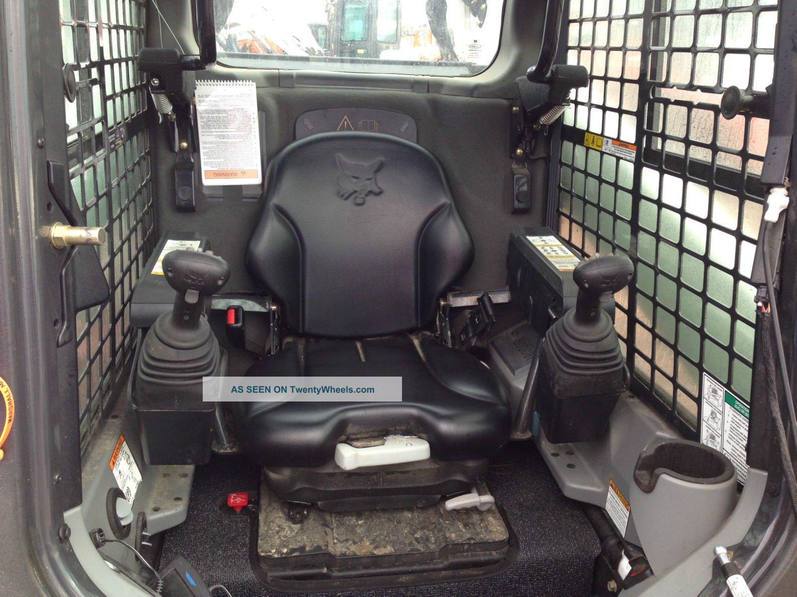 2013 Bobcat T870 Track Skidsteer Cab Heat Ac Joystick Only