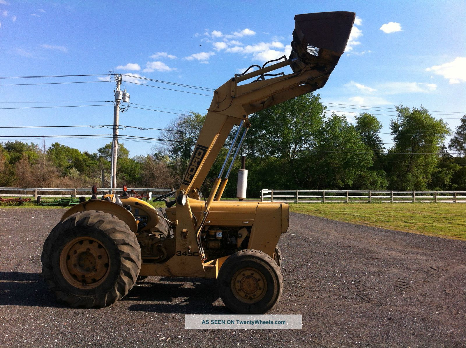 6 Wheel Drive Tractor : Ford c wheel drive diesel tractor loader