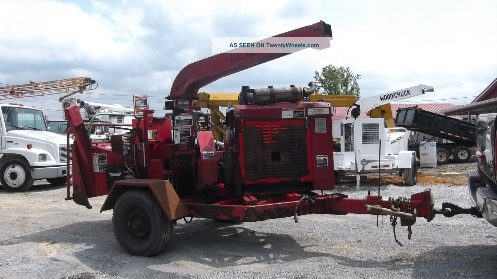 2007 Woodchuck Dc1217 Cat Diesel Woodchipper Parts Machine