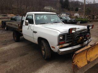 1984 Dodge Power Ram 150,  Snow Plow Truck,  Flatbed Truck photo