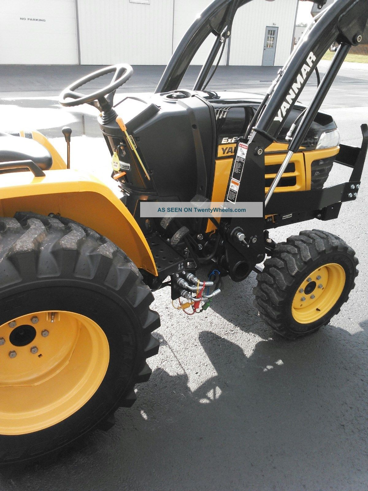 Yanmar Tractor 2 Wheel : Ex yanmar utility tractor with yl loader wd