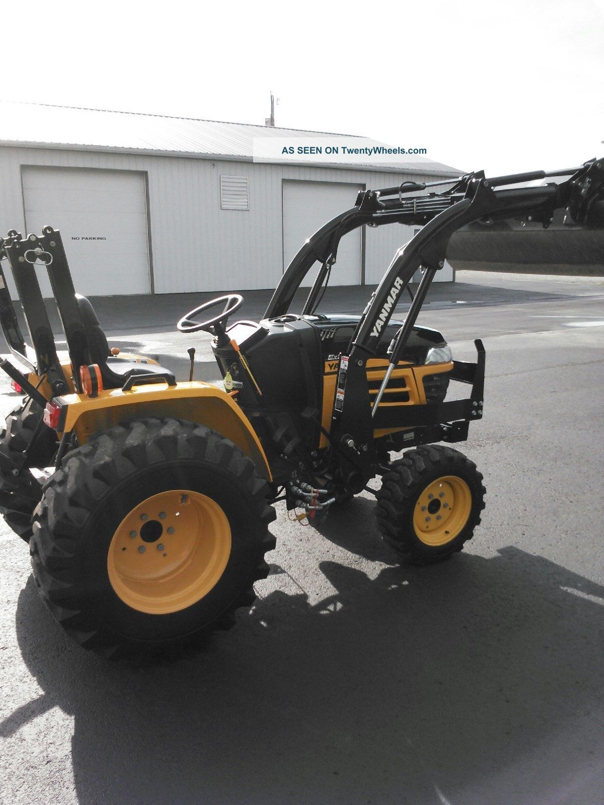 Antique Yanmar Tractors : Ex yanmar utility tractor with yl loader wd