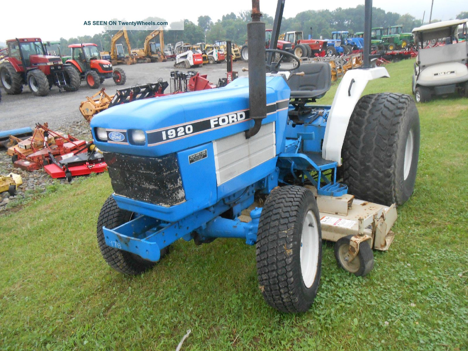 New Holland Ford Tractor 1920 : Ford holland with ft belly mower wide turff tires in pa