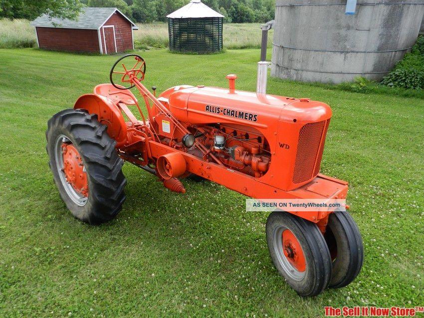 Vintage Allis Chalmers Tractors : Restored antique s allis chalmers ac model wd farm