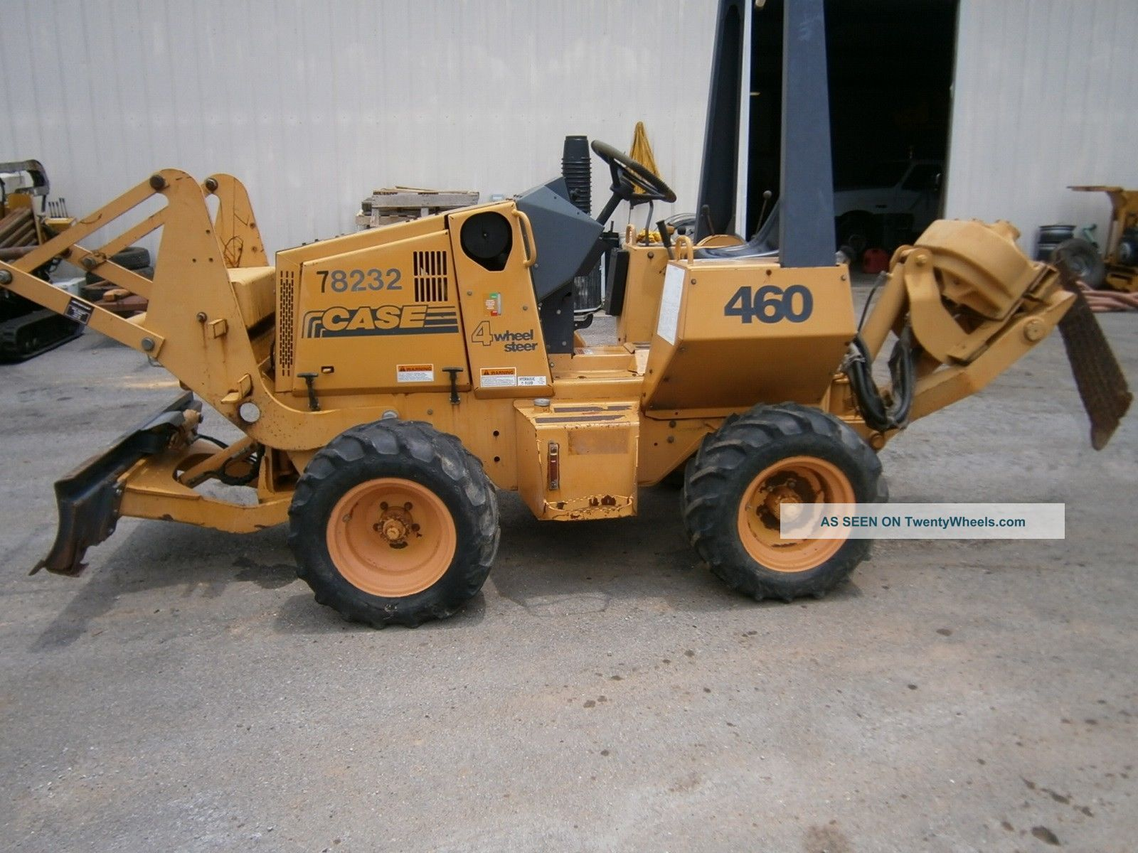 Case 460 Vibratory Cable Plow W/ 6 Way Blade 360 Hours