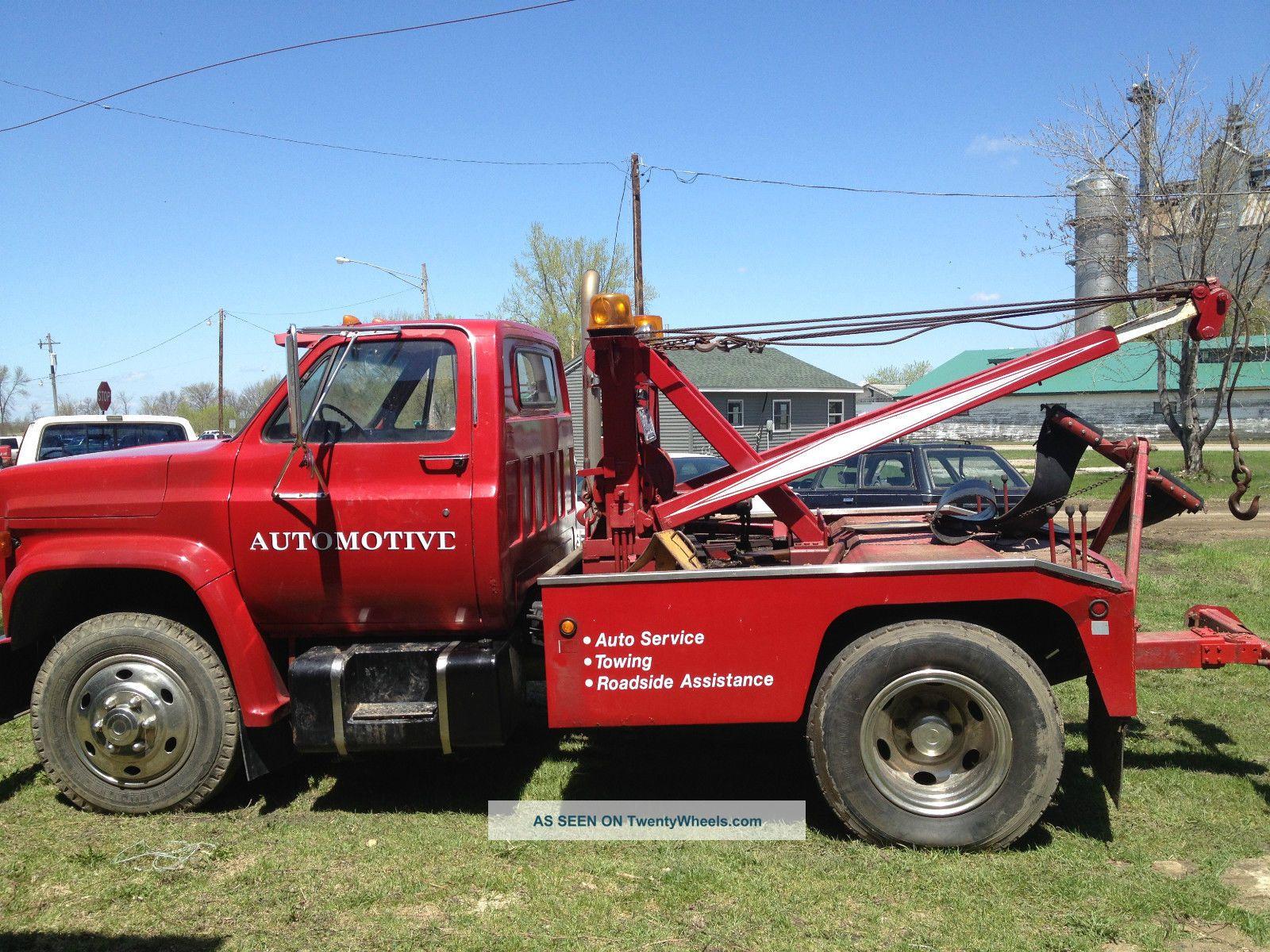 gmc  sierra topkick wrecker tow truck