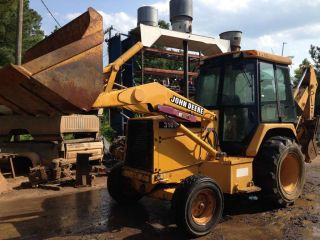 1995 John Deere Backhoe 310d,  Enclosed Cab,  Runs Well,  2wd,  Ready For Work photo