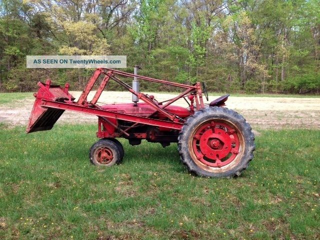 Farmall Tractor With Loader : Farmall h tractor with loader