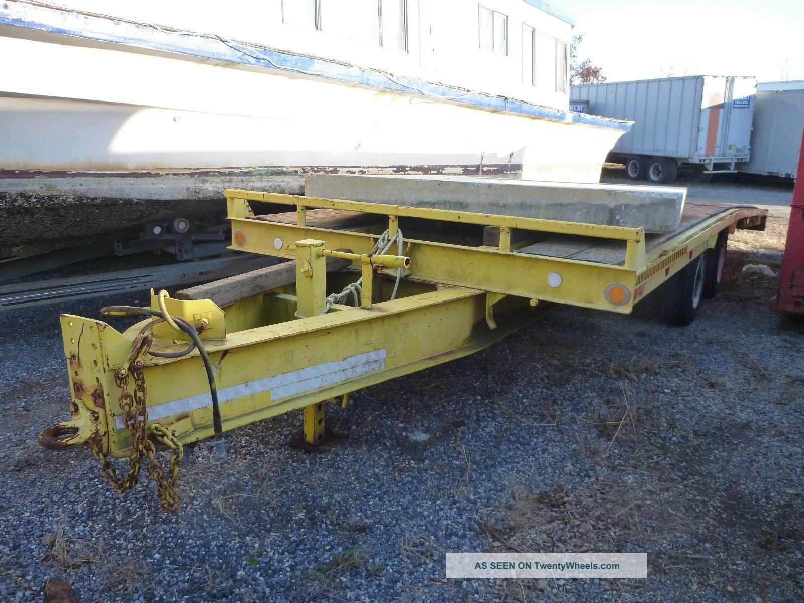 25 Ton Hudson Tilt Deck Trailer Flatbed Air Brakes Hauler