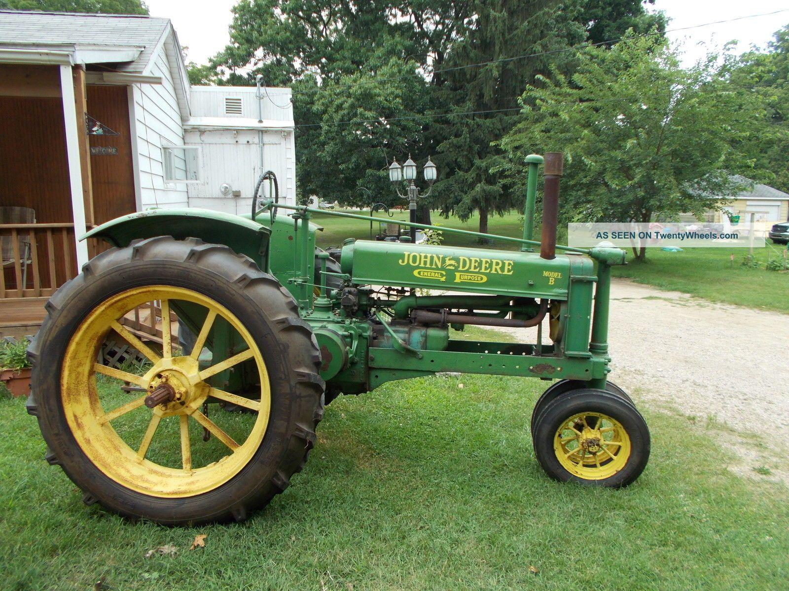 John Deere B Tractor Lgw