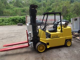 Forklift Hyster 10000 Reach 206in Sideshift Fork Postioner Propane photo