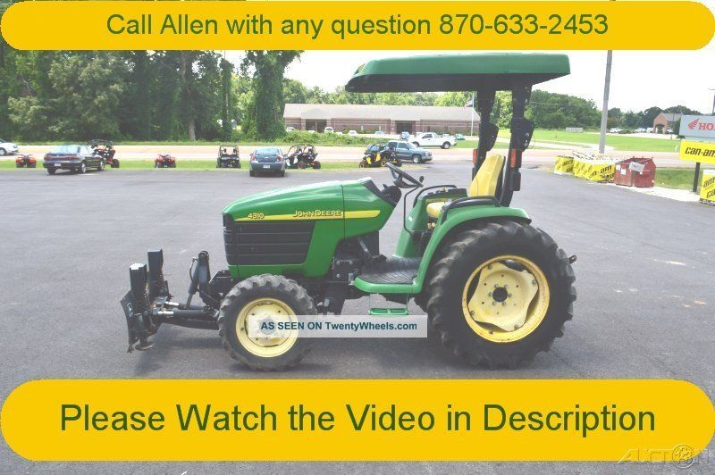 2003 John Deere 4310 Tractor Hydro Snow Plow Pu Available
