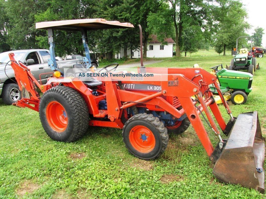 Kioti Lk3054 Compact Tractor, Loader, Backhoe  30 Hp Diesel
