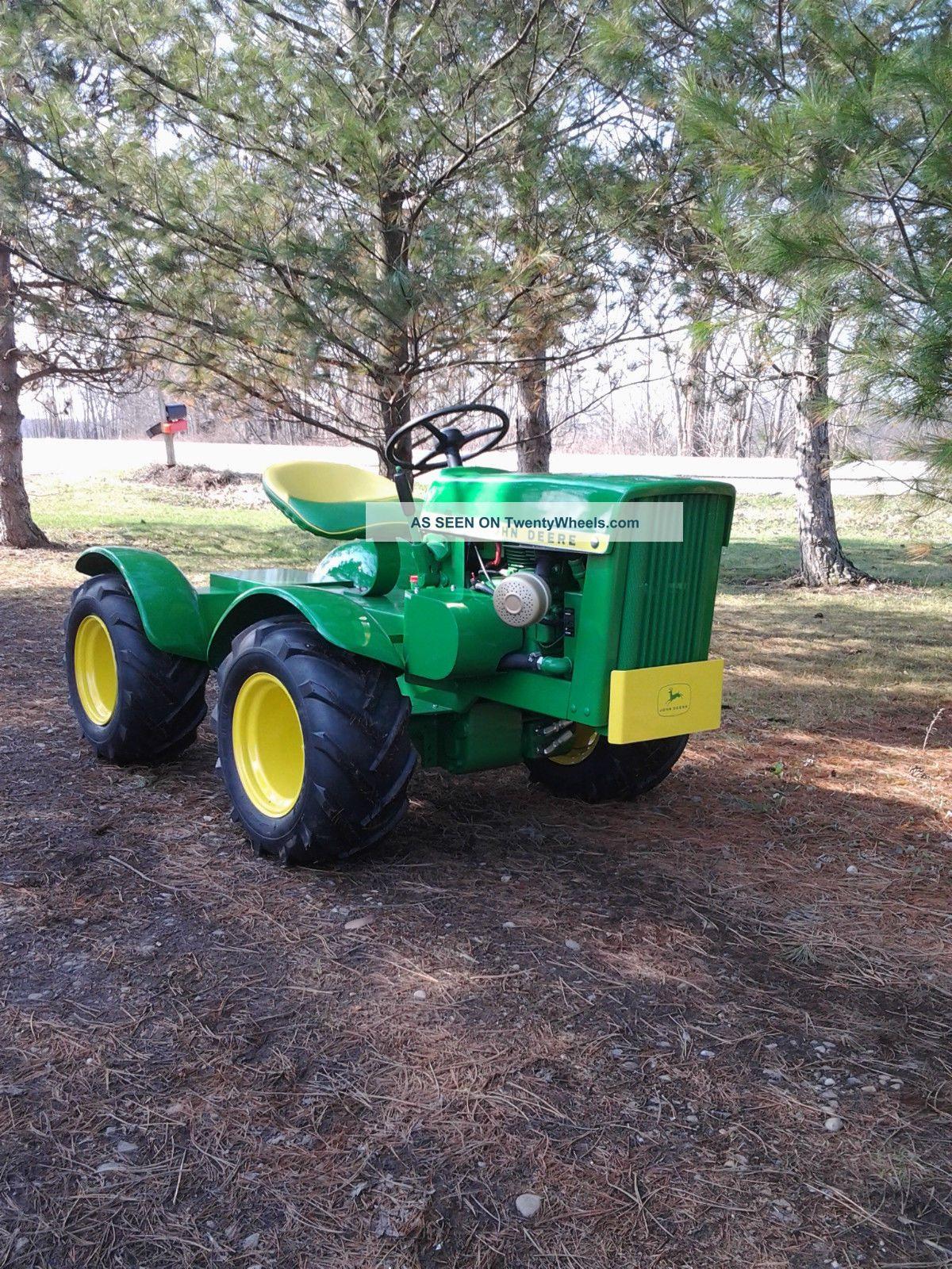 Custom Garden Tractor Wheels : John deere round fender articulated garden tractor