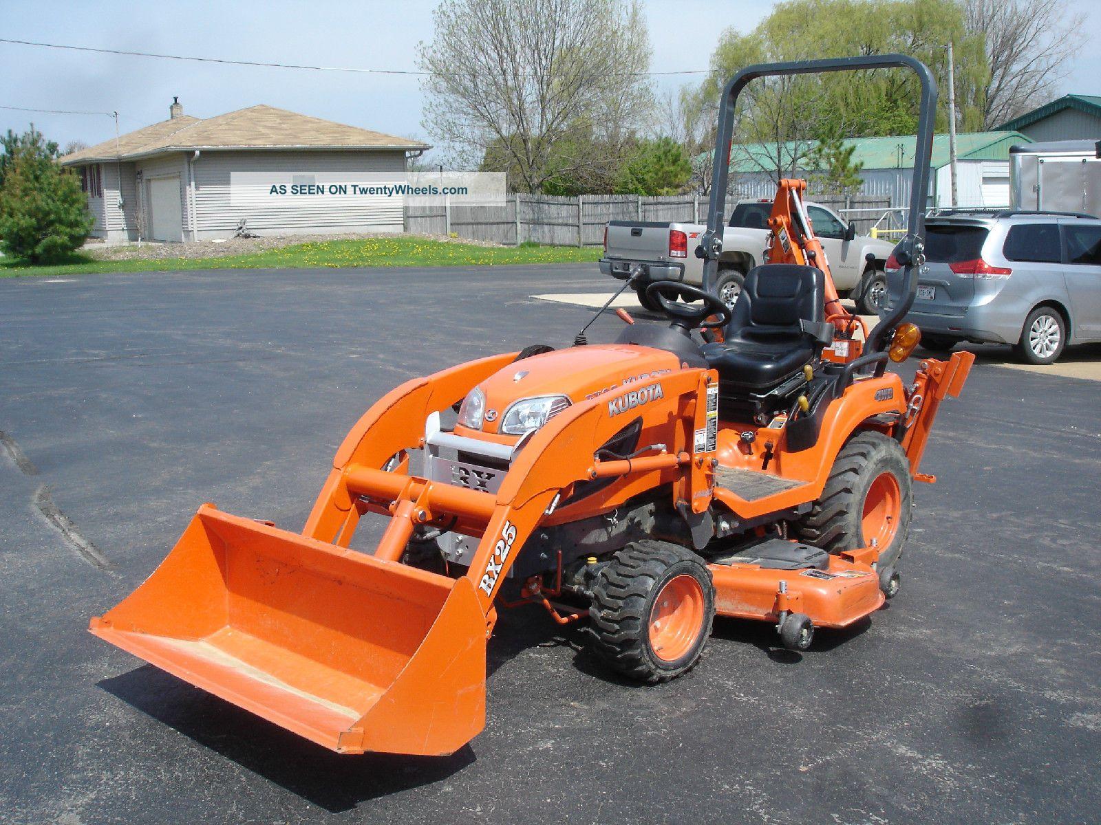 Kubota Lawn Tractors : Kubota bx dlb tractor loader backhoe lawn mower