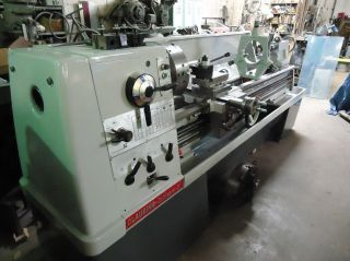 Clausing Colchester 21x80 Gap Bed Lathe,  Digital,  Roller Steady Rest.  Qctp photo