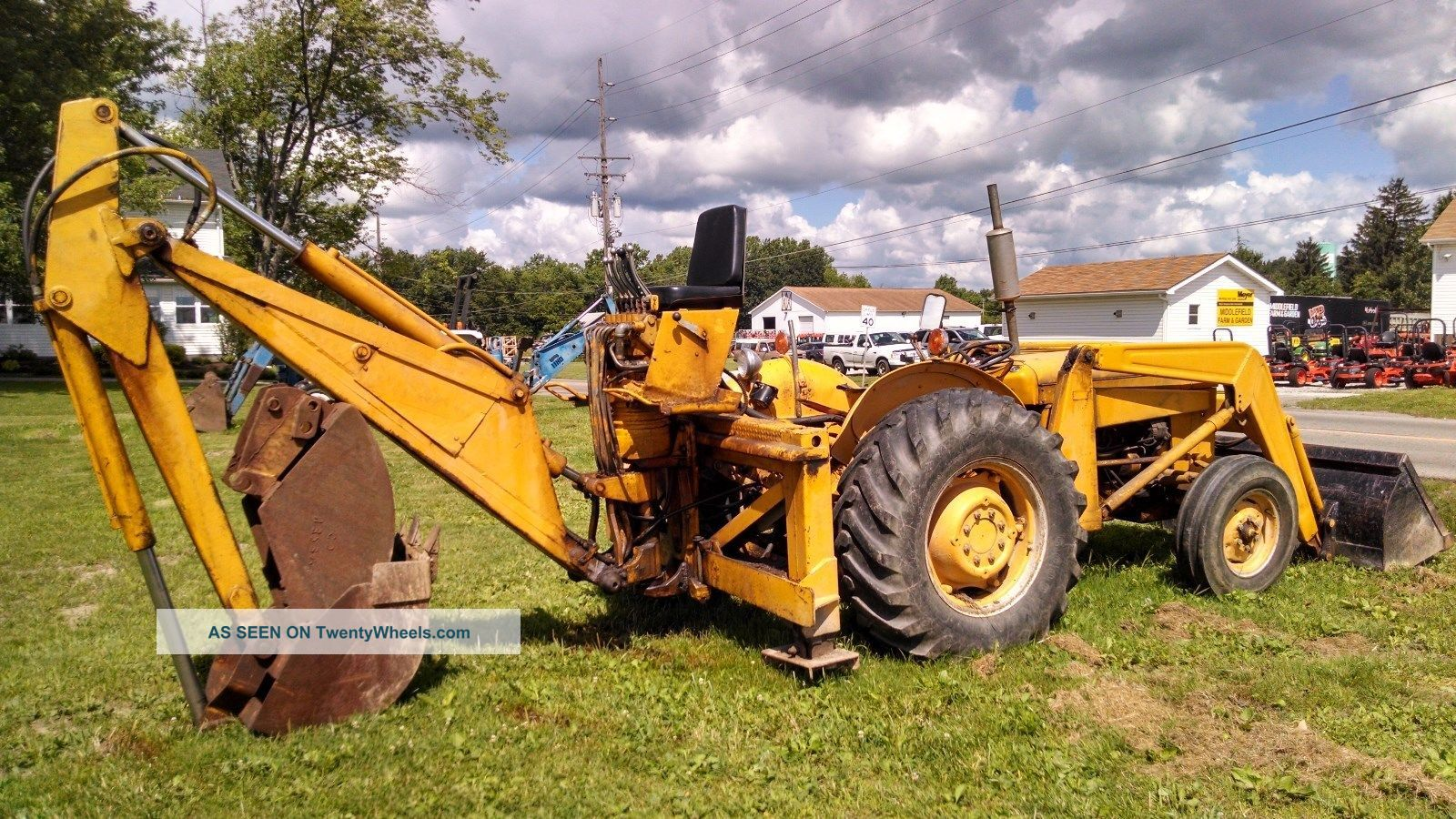 Massey Ferguson Tractor Loader Backhoe : Massey ferguson tractor loader backhoe point rear pto