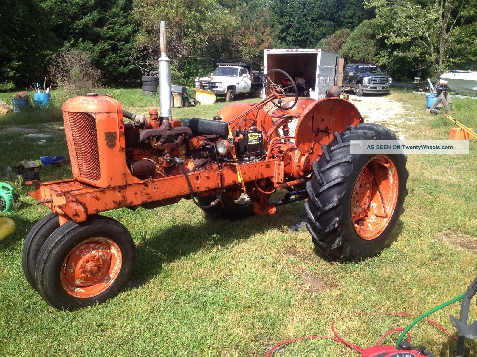 Vintage Allis Chalmers Tractors : Allis chalmers wd antique vintage farm tractor works great