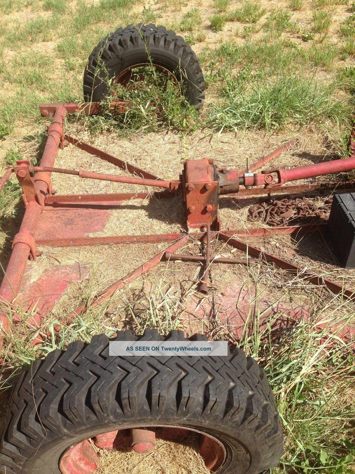 Farmall B Tractor Wih Pull Behind Bush Hog Lgw