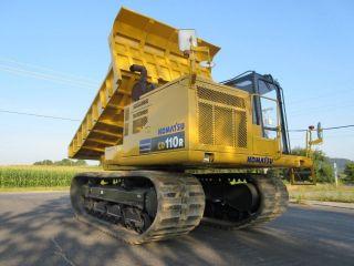 Komatsu Cd110r Cd110 Track Dump Truck Crawler Carrier W/ Cab 12 Ton Capacity photo