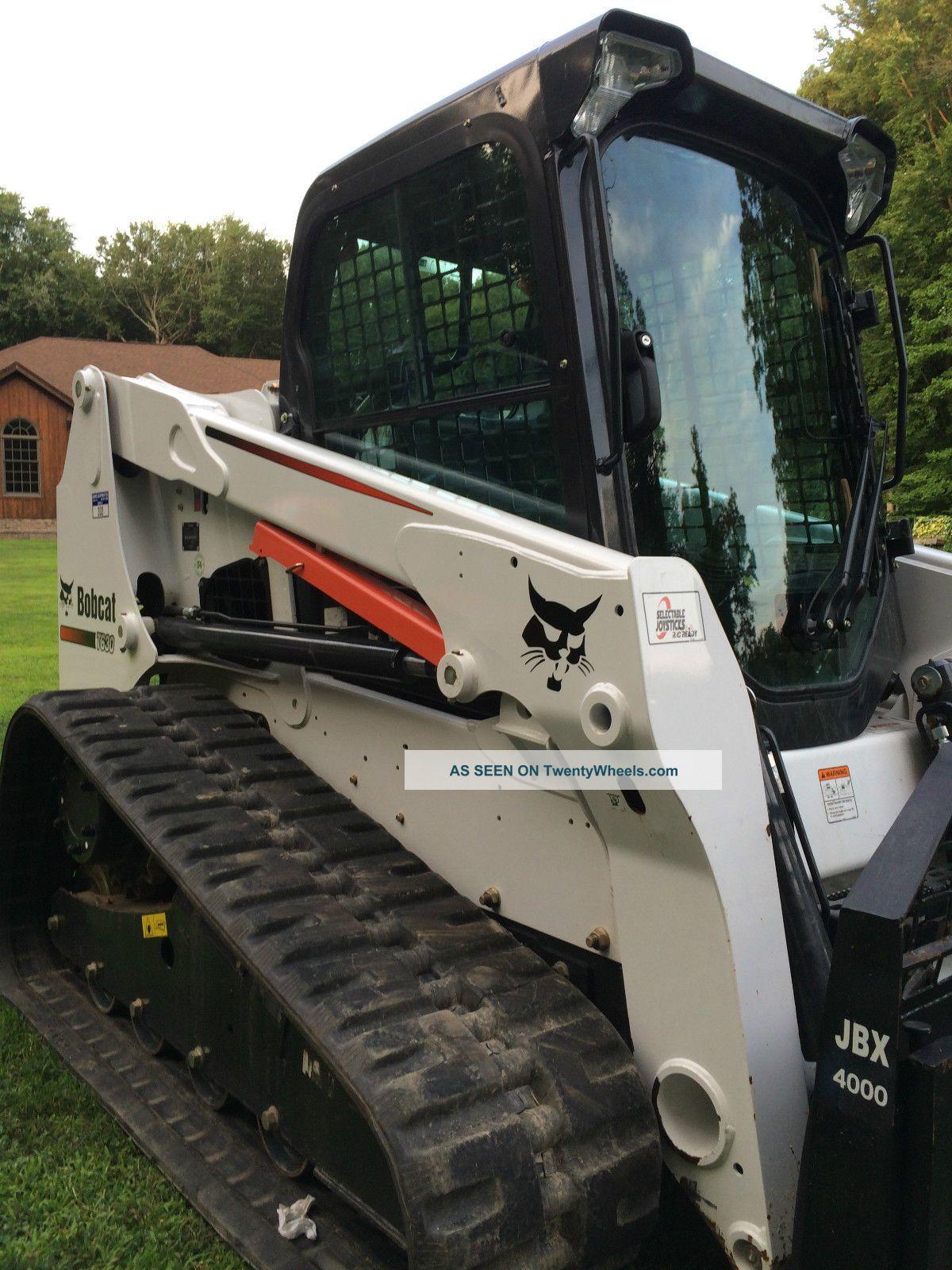 Track Skid Steer Loader : Bobcat t skid steer track loader options kubota diesel