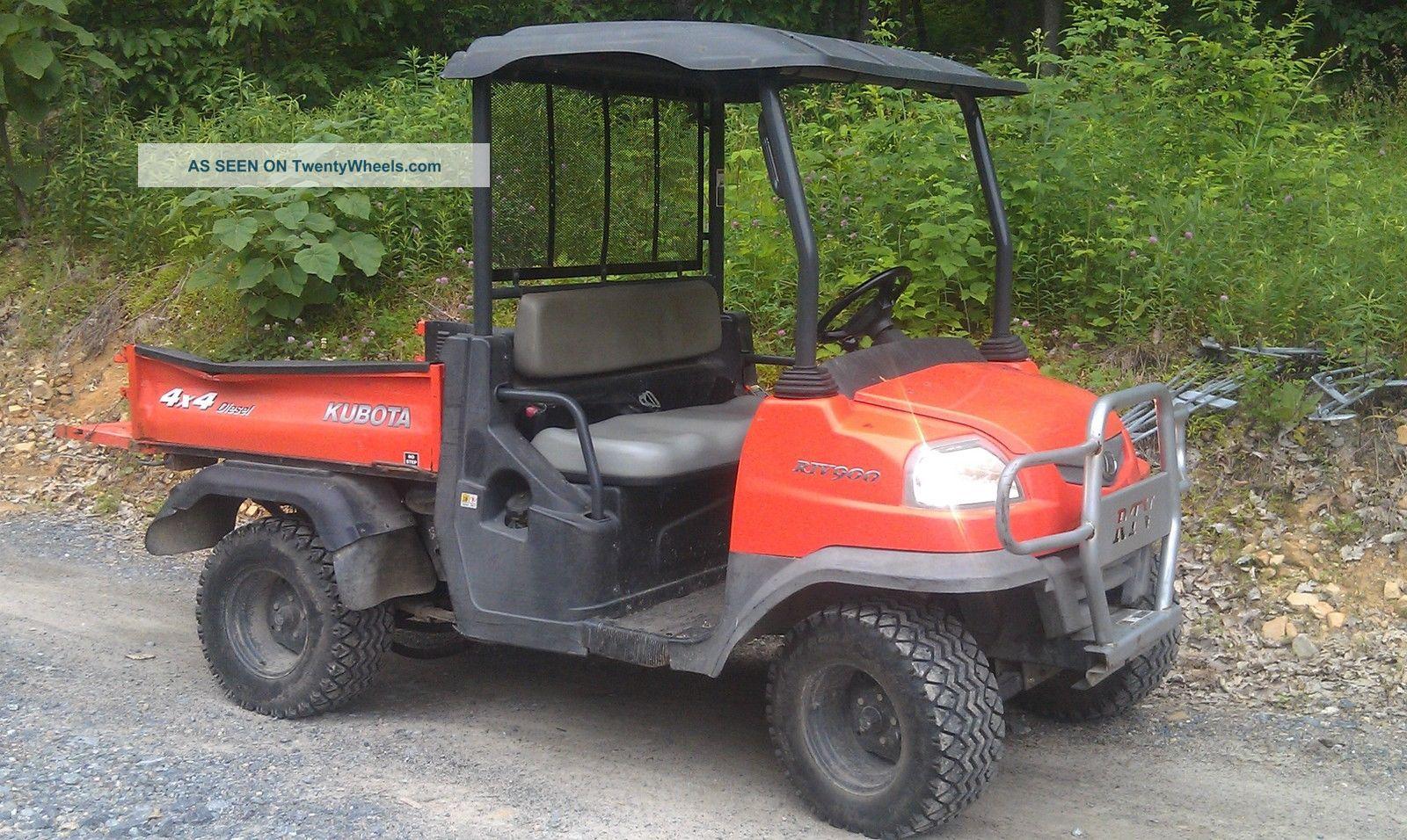 Kubota Rtv900 Specs : Kubota rtv diesel utility vehicle only hours