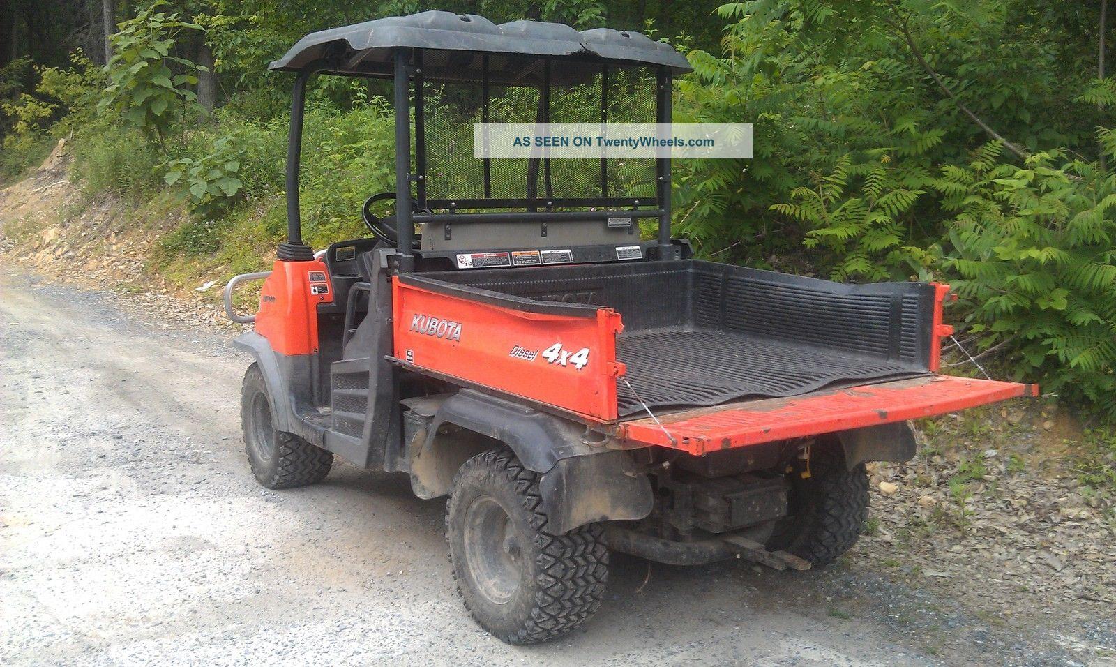 Kubota Rtv900 Utility Vehicle : Kubota rtv diesel utility vehicle only hours
