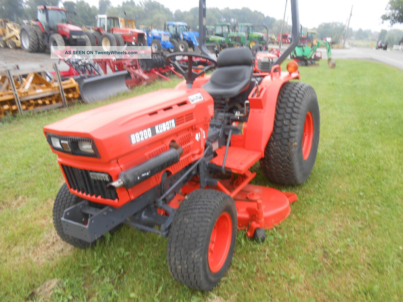 Tractor Mowing Painting : Kubota with ft belly mower pt hitch paint