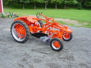 Allis Chalmers G Tractor With Plow photo