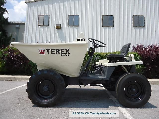 21853 Benfordterex 40d diesel mini dumper georgia buggy dump truck on 40 yard dump trailers