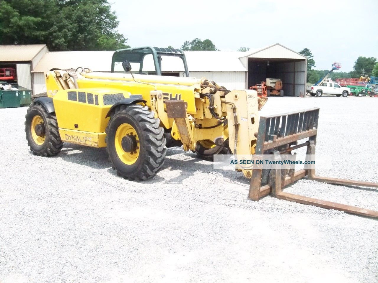 Telescopic Stabilizer Bar Tractor : Gehl dl l telescopic forklift loader lift