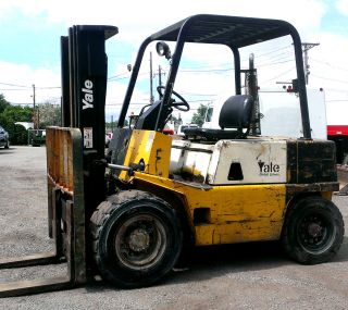 Yale Gdp060 Forklift 6000 Lb Pneumatic Tire Diesel Lift Truck Hyster Gdp060lcnsb photo
