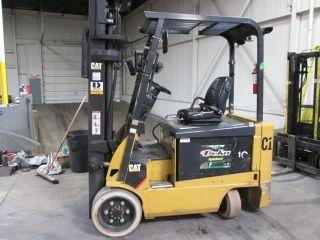2011 Caterpillar E6000 Electric Forklift; 6k Lb Capacity; 100/236 Triple; W/batt photo