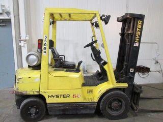 2001 Hyster H50xm Lpg Pneumatic Forklift; 8314 Hrs; 82/189 Triple; Sideshift photo