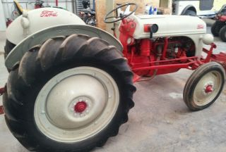 Ford 8n Tractor 28 Hp Ie - 1950 9n 2n Naa Jubilee With Tires,  Paint photo