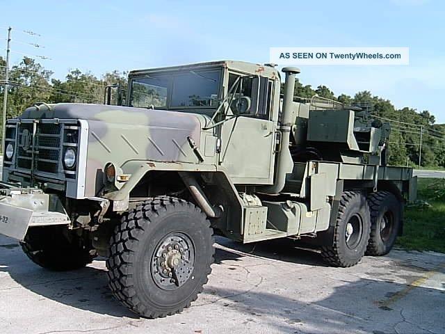 Army Heavy Duty Trucks : M heavy duty military truck crane wrecker