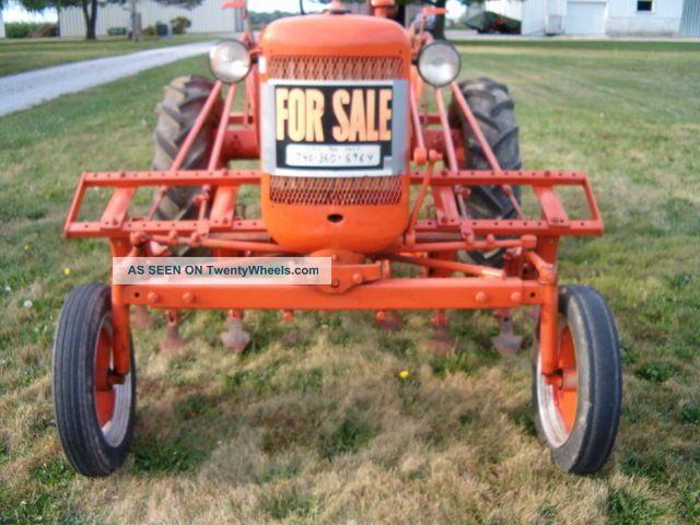 Vintage Garden Tractor Plow : Allis chalmers c farm tractor antique tool cultivator plow