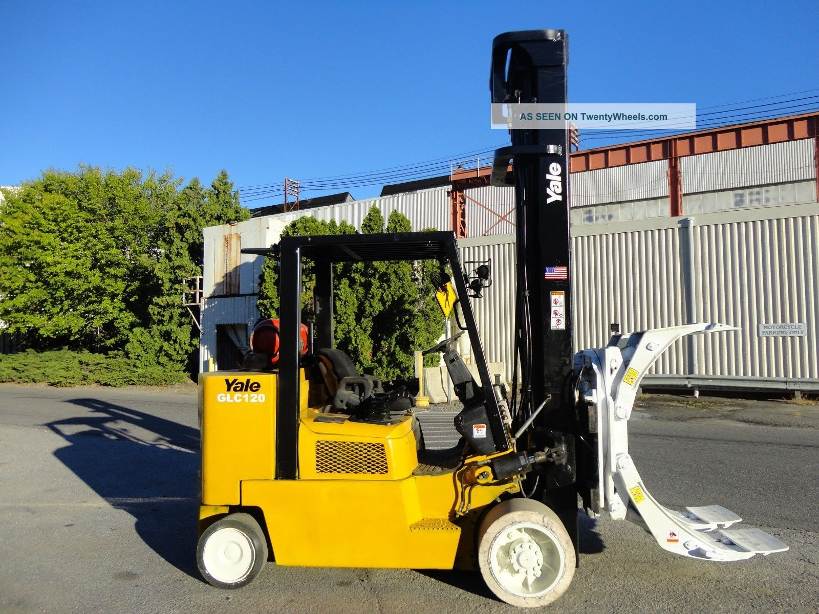 2005 Yale Glc120 With Cascade Paper Roll Clamp Forklift 8