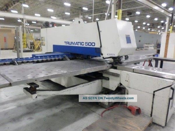 machinery specifications models trumpf trumatic