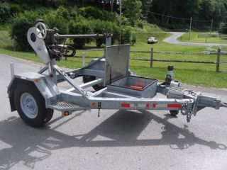 99 Sauber 1500 Stringing Reel Trailer / Dolly Galvanized Hyd.  Take - Up Retriever photo