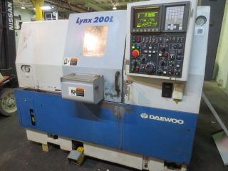 Daewoo Lynx 200 Lc Cnc Turning Center Fanuc 21itb Control photo