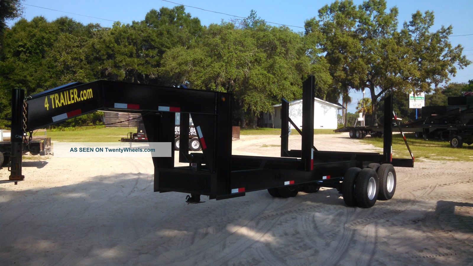 2015 20 Log Trailer Logging Wood Gooseneck Pulp Dual