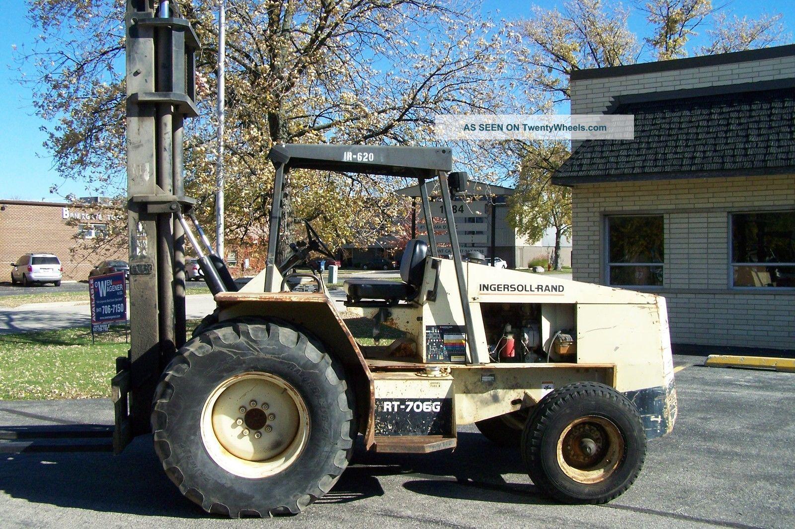 ingersoll rand rough terrain forklift truck
