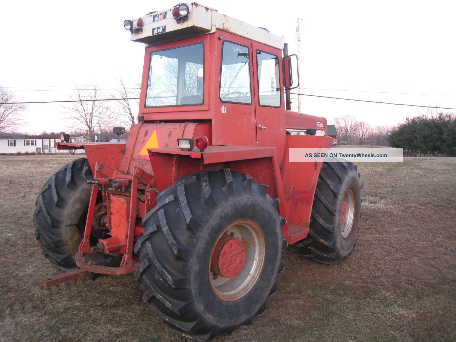 Antique International Tractor Wheel : International wd tractor all wheel steer dt