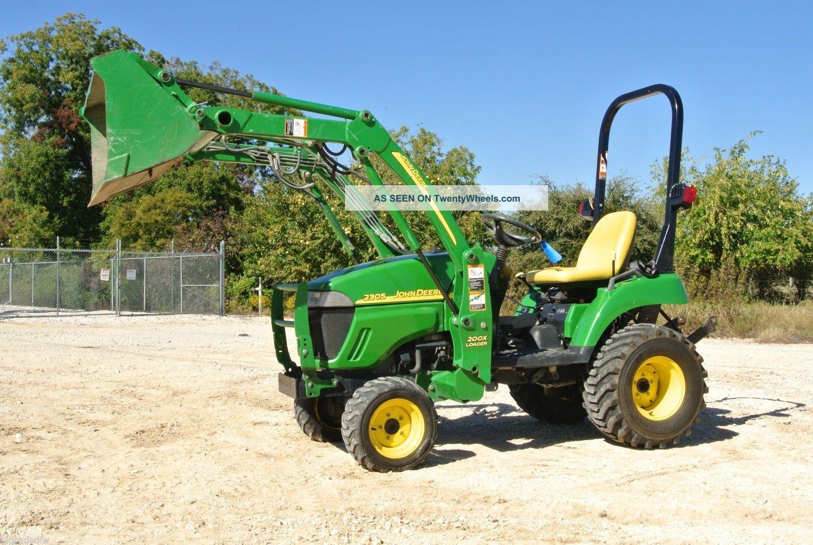John Deere Hst Compact Tractor W Loader Wd Runs Strong Lgw